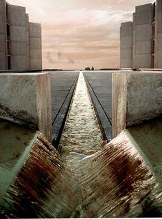 Salk Institute by Louis Kahn. La Jolla California. 1962