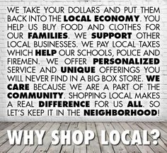 shop local This is why Nashville Wraps supports our local retailers! Small Business Quotes, Small Business Saturday, Buy Local, Shop Local, Support Local Business, Business Inspiration, Just For You, Marketing, Words