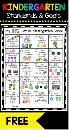 Kindergarten Goal Chart – FREEBIE - awesome incentive for your students to master math and ELA common core standards . and its FREE! Informations About Kindergarten Goal Chart - FREEBIE — Keeping My Kindergarten Assessment, Kindergarten Readiness, Homeschool Kindergarten, Homeschooling, Kindergarten Goal Sheet, Daycare Curriculum, Kindergarten Freebies, Kindergarten Ready Checklist, Kindergarten Common Core