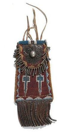 Kiowa beaded hide strike-a-lite bag; image credit on full record.