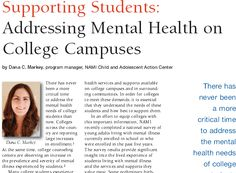 Mental Health Counseling different subjects for college recommendations
