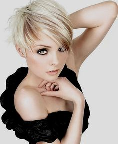 Short pixie with creative colouring