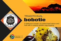 South African Food: Bobotie, curried beef mince Bobotie Recipe, Great Recipes, Favorite Recipes, South African Recipes, Volunteer Abroad, Explore Travel, Curries, Volunteers, Food Porn