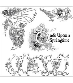 """Graphic 45 Once Upon A Springtime Cling Stamp 4.5""""X4.5""""-1"""