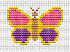 Sew Simple Butterfly cross stitch kit