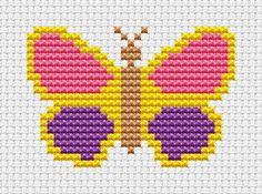 Sew Simple Butterfly cross stitch kit