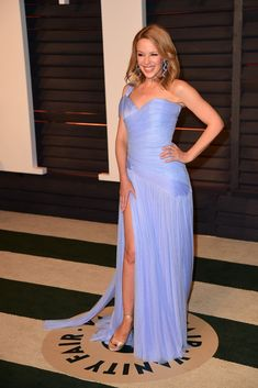 Kylie Minogue in Ralph & Russo partying After the Oscars [Photo by Tyler Boye]