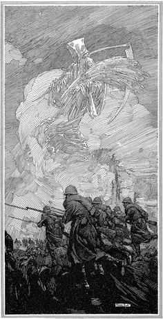 Franklin Booth, scratchboard master? As I understand it, he didn't use scratchboard. Just pen & ink. Either way, darned good, weren't he?