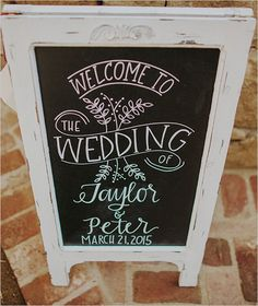 welcome wedding sign chalkboard Portugal White Weddings-  Your wedding planner in Portugal