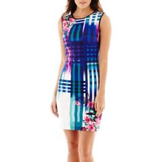 Bisou Bisou® Sleeveless Floral Print Sheath Dress  found at @JCPenney