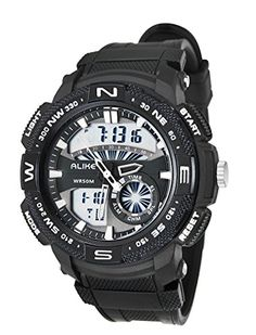Panegy Outdoor Waterproof Boys Girls Cool Sport Digital Alarm Stopwatch Chronograph Wrist Watch Gift Display  Black ** Continue to the product at the image link.