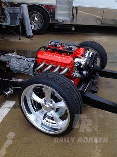 Custom HotRod and Muscle Car chassis. #custom #hotrod #musclecar #chasis #DailyRubber #goodguys #performance #automotive #motoring #driving #motorsport #kustom #engineering #engine #motor #gearhead #speedshop