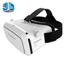 [USD14.00] [EUR12.72] [GBP10.01] Shinecon VR Universal Virtual Reality 3D Video Glasses for 3.5 to 6 inch Smartphones(White)