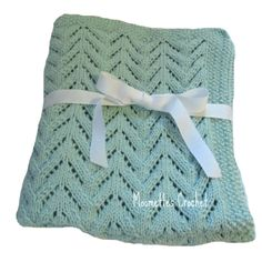 Hand Knit Baby Blanket Blue Baby Blanket Knitted Baby Afghan #baby #gifts #blue http://moomettesmagnificents.com/blog/moomettes-crochet/hand-knit-baby-blanket-blue-baby-blanket-knitted-baby-afghan/