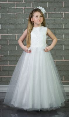 Lace Applique Girl Birthday Wedding Party Formal Flower Girls Dress Baby  Pageant Dresses 6275bbd23337
