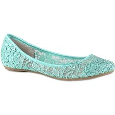 Call It Spring(TM) Taibi Lace Ballet Flats ($35) ❤ liked on Polyvore