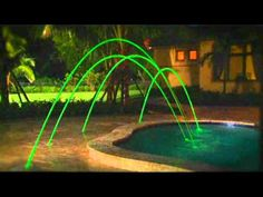 Pentair Swimming Pool Deck Jets with Led Lights
