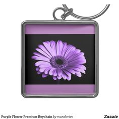 Purple Flower Premium Keychain