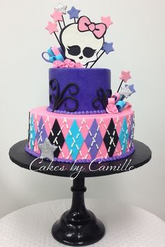 Monster High cake. Monster High birthday.