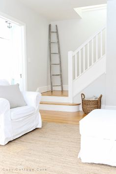 Cozy.Cottage.Cute.  Paint Colour - Gray Owl (lightened by 50%) by Benjamin Moore