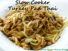 Slow Cooker Turkey Pad Thai and more of the best clean eating crock pot recipes on MyNaturalFamily.com #cleaneating #recipe