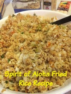Disney Reicpes   The Walt Disney World recipe for the fried rice at the Spirit of Aloha dinner show and Disney's Polynesian Resort.