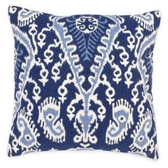 Check out this item at One Kings Lane! Paisley 20x20 Cotton Pillow, Blue
