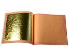 """Gold Leaf L.A 22 K Genuine Gold TRANSFER Leaf 3 1//8/"""" x 3 1//8/"""" 100 sheets"""
