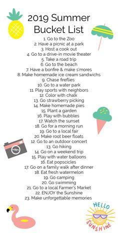 holiday meme 2019 Summer Bucket List Bucket list for Summer Summer Bucket List For Teens, Summer Fun List, Summer Kids, Spring Bucket Lists, Summer Activities, Toddler Activities, Holiday Meme, Best Friend Bucket List, Things To Do When Bored
