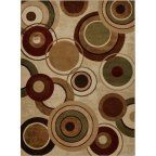 Home Dynamix Tribeca Area Rugs - 5387-602 Circles Loops Hoops Rings Bubbles Rug