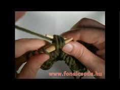 Kötés: alapok 24. rész - balra dőlő dupla fogyasztás / sssk - YouTube