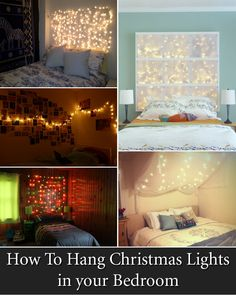 How To Hang Christmas Lights in your Bedroom.