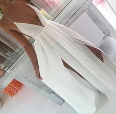 Image via We Heart It http://weheartit.com/entry/201383227 #beautiful #dress #fashion #goals #gorgeous #lace #outfit #romantic #simple #tan #whitedress #love