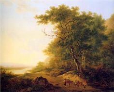 Mountainous landscape with travellers Sun__Mountainous-landscape-with-travellers - Jacob van Strij