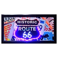 19 X 10-in LED Route 66 Sign