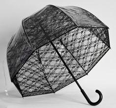Fashion Fiberglass Bubble Umbrella - Black Lace | eBay