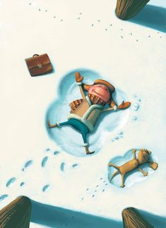 Cartoon Kid in the Snow #kid #cartoon