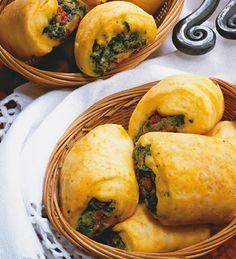 Arrolladitos de colores #receta #vegetariana
