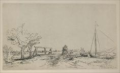 Rembrandt van Rijn -- Six's Bridge 1645 131 x 235 mm.