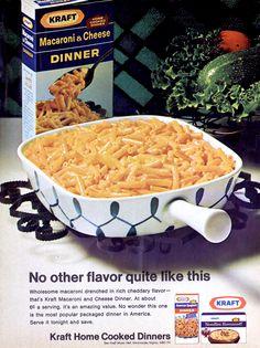 Kraft Macaroni & Cheese Dinner, 1968.