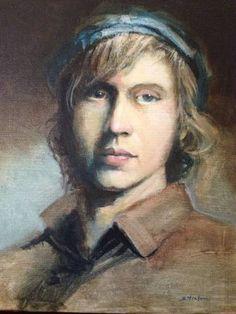 """Saatchi Art Artist Scott Heaton; Painting, """"Cory"""" #art"""