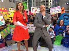 Matt Lauer dances!!!! TODAY's psyched for PSY to perform on plaza