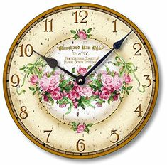 Special Offers - Item C1100 Vintage Victorian Style 10.5 Inch Pink Roses Clock - In stock & Free Shipping. You can save more money! Check It (July 14 2016 at 01:49PM) >> http://wallclockusa.net/item-c1100-vintage-victorian-style-10-5-inch-pink-roses-clock/