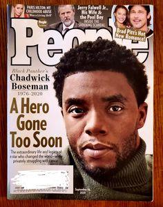 People Chadwick Boseman Black Panther | Mercari Black Panther Chadwick Boseman, People Magazine, Paris Hilton, Brad Pitt, Scandal, Fun Projects, Childhood, Romance, Hero