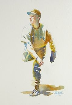 The Rookie by Randy Meador Watercolor ~ 12 x 9