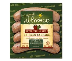 al fresco all natural Roasted Red Pepper & Asiago Chicken Sausage - eating these right now! Spinach Feta Chicken, Asiago Chicken, Spinach And Feta, Garlic Chicken, Cooked Chicken, Stuffed Chicken, Chicken Penne, Chicken Legs, Roasted Chicken