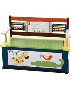 20 Smart Organization Solutions for Busy Families: Cocalo Jungle Storage Bench (via Parents.com)