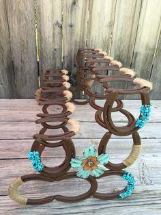 Horseshoe Boot Rack  Boot Rack  Six Pairs of Boots  Rustic