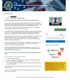 Computer Crime and Intellectual Property Section Ransomware Image.  If you see this on your computer screen, you need to contact www.betterpcplus.com RIGHT AWAY for expert virus removal.