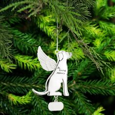 Your guardian angel has a wagging tail to go with its wings! Celebrate the holidays while honoring the memory of your beloved pup with this luminous memorial ornament. Memorial Ornaments, Dog Ornaments, Angel Ornaments, Christmas Ornaments, Pet Loss Gifts, Pet Gifts, Dog Memorial, Memorial Ideas, Pet Remembrance